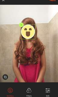 wig warna dark brown import