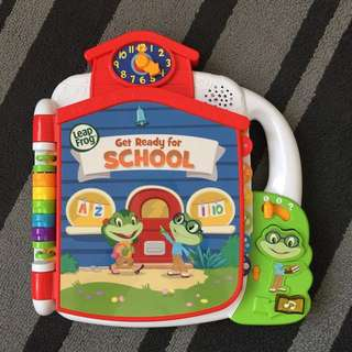 Leap Frog Tad's get ready for school book