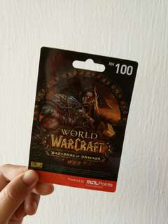 WARCRAFT GIFT CARD