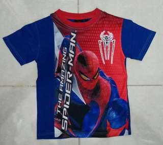 Kaos Tee Anak Kids Spiderman Size 8 (ada cacat)