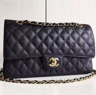 Chanel Caviar Classic Flap 25 (Just look at the price without looking at quality.Please bypass,Tq)
