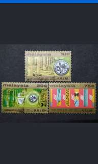 Malaysia 1975 50th Anniversary Rubber Research Institute Complete Set - 3v Used & MNH Stamps