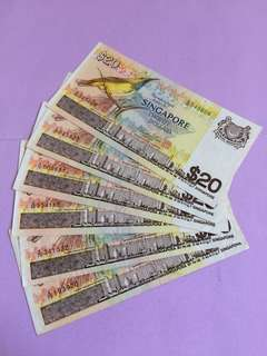 Ship Series $20 Singapore Notes