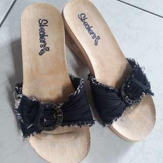 REPRICED Skechers Cali Denim Sandals