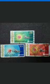 Malaysia 1973 Setting Up Of Malaysia Airline System (MAS) Complete Set - 3v Used Stamps
