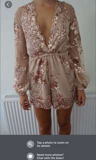Gold play suit worn once