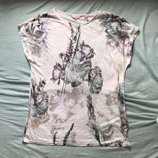 TED BAKER floral T shirt