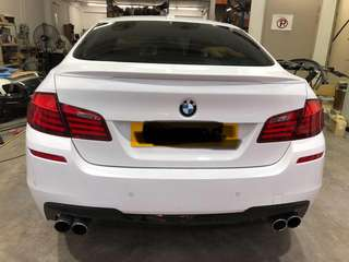 Bmw f10 m sport rear diffuser for quad exhaust