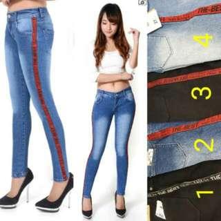 Celana jeans list