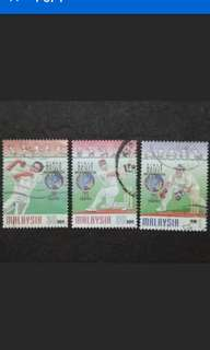 Malaysia 1997 Sports Cricket ICC Trophy Complete Set - 3v Used Stamps