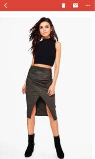 Suedette stretchable skirt