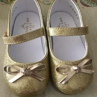 [PL] lovely lace shoes size 21 gold Color (~1Y)