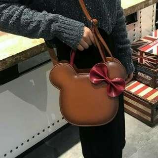 #各種款式皮夾包包系列   #葆君生廠  總廠0326-030388890-米奇蝴蝶結手提單肩包