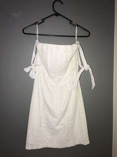 Bardot white dress