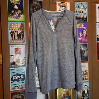 Aeropostale Dirty Blue Long Sleeve Shirt