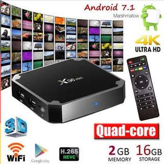 Unlimited Asia Movies/Channels X96 Mini 2GB/16GB Android TV Box