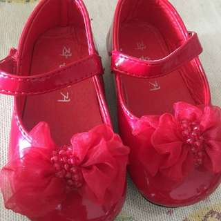 [PL] bany shoes size 17 red color