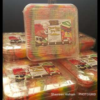 Rainbow Cheese Cookies