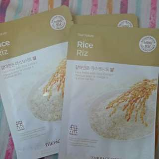 The face shop, Rice riz facial mask.