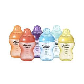 Tommee Tippee close to nature colour feeding bottles 9oz