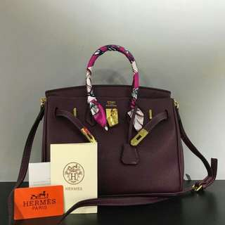 Hermes Birkin Purple Color