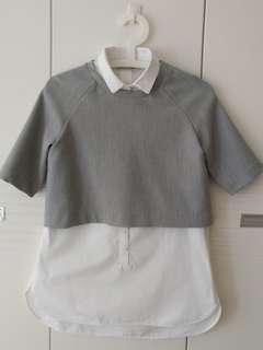 ZARA shirt 灰白襯衫