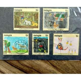 [RARE] Malaysia 25th Anniversary UNICEF Complete Set 1971