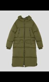 Zara Oversized Puffer Winter Coat with Hood