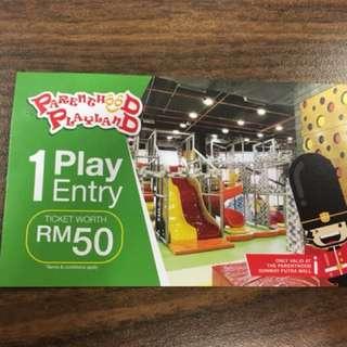 Parenthood Playland ticket