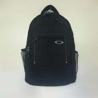 Re-priced Pre-loved Black Bag Pack with laptop divider