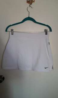 NIKE FIT DRY white tennis skirt