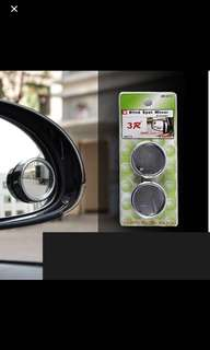 Car Blind Spot Mirror Car Small Round Mirror 360 Degree Rotation Angle Adjustable Small Rearview Mirror