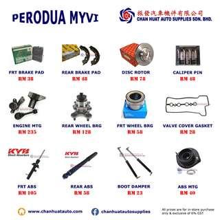 Perodua Myvi Car Spare Parts