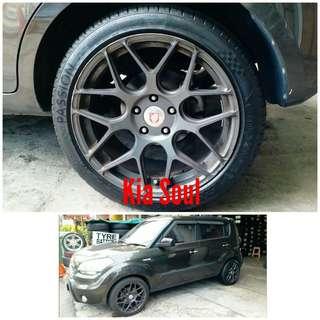Tyre 225/45 R18 Membat on Kia Soul 🐕 Super Offer 🙋♂️
