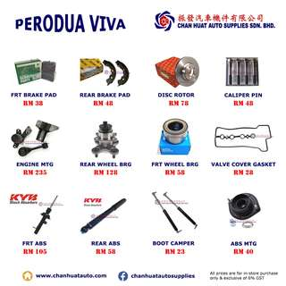 Perodua Viva Car Spare Parts