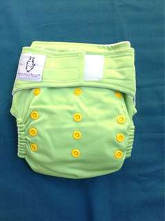 Snap cloth diaper with 2 inserts (washable/reusable)
