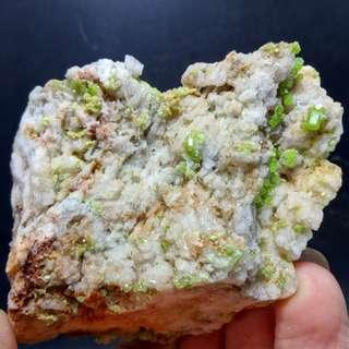 磷氯鉛礦物晶體 礦石教學標本 原石擺件 精品 收藏奇石