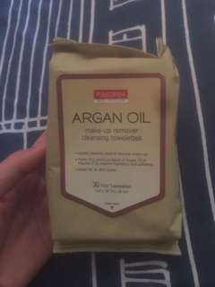 PUREDERM Argan Oil Make-Up Remover Cleansing Towelettes