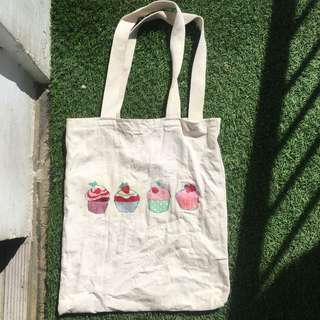 Cupcakey Canvass Tote Bag