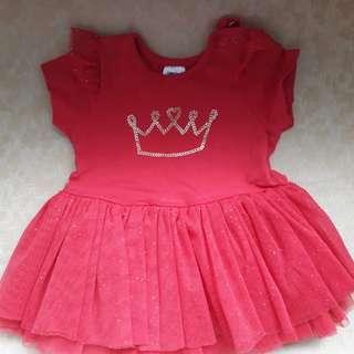 Red Glittery Princess Tutu Dress
