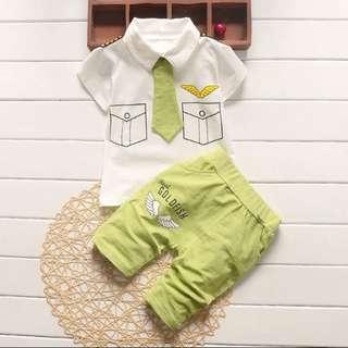 Pilot uniform inspired baby boy set