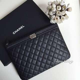 Chanel Clutch Leboy Caviar Black