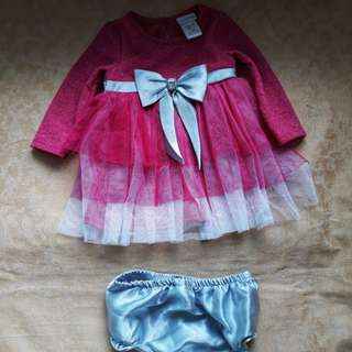 Pink and Silver Party Dress