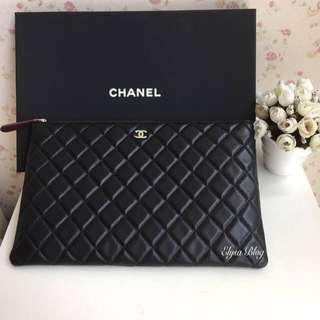 Chanel Clutch Lambskin Black