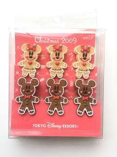 中古 東京Disney Mickey & Minnie 米奇米妮夾仔