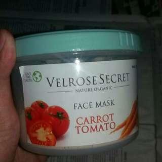 """VELROSE SECRET """" facemask"""" CARROT TOMATO"""