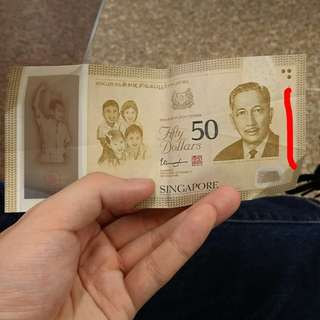 Singapore commerative $50 note