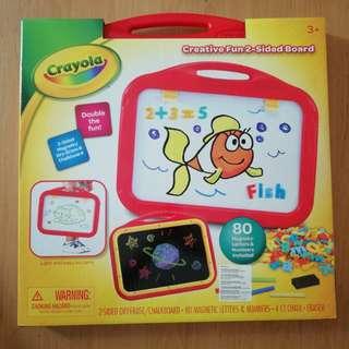 Crayola Creative Fun 2-Sided Magnetic/Dry-Erase & Chalkboard