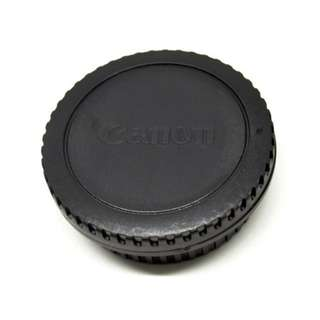 Front Cover & Rear Lens Cap for Canon (With Logo) - Black