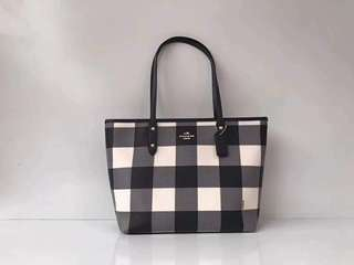 Coach 26147 CITY ZIP TOTE WITH BUFFALO PLAID PRINT